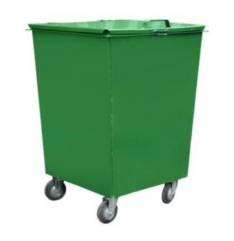 Мусорный контейнер 0,75 куб.м металлический контейнер для мусора